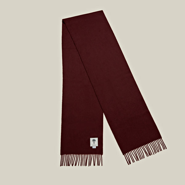 Solid Cashmere Scarf, Burgundy