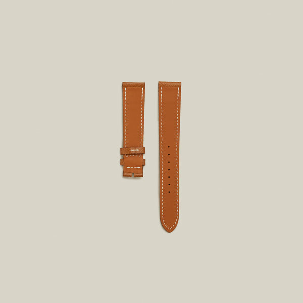 Textured Calf Watch Strap, Light Tan