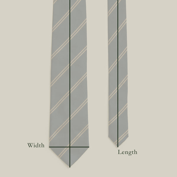 Trad Block Stripe Tie, Navy/Green/Beige
