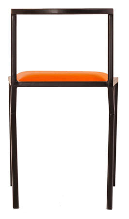 The Classic - Black Metal Frame Mandarin Leather Chair