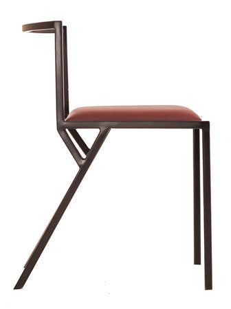 The Classic - Black Metal Frame Mulberry Leather Chair