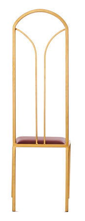 The Consummate - Gold Effect Tall Metal Frame with Admiral Red Leather Chair