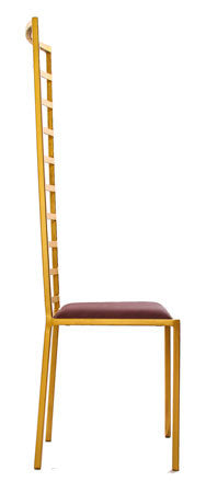 The Escalade - Tall Gold Effect Metal Frame with Mulberry Leather