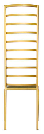 The Escalade - Tall Gold Effect Metal Frame with Olive Leather