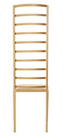 The Escalade - Tall Gold Effect Metal Frame with White Leather