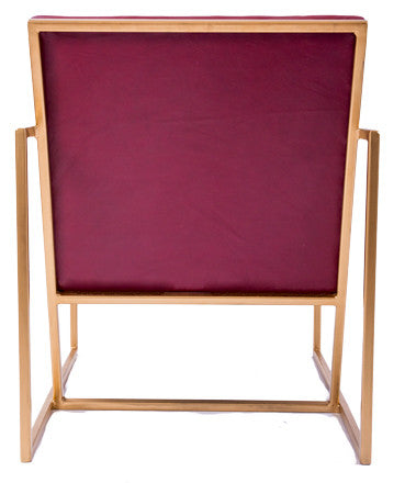 The Gravity Chair - Gold Effect Frame - Admiral Red Leather Chair