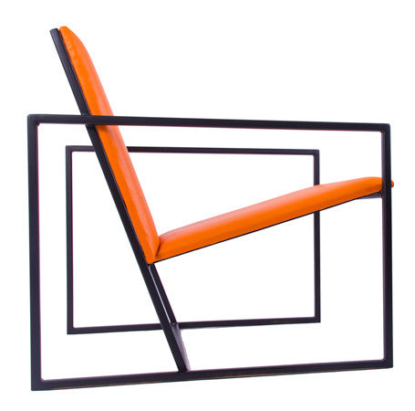 The Gravity Chair - Black Frame - Mandarin Leather Chair