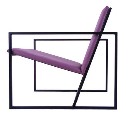 The Gravity Chair - Black Frame - Mulberry Leather Chair