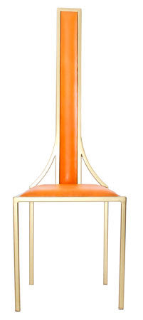 The Manhattan - Gold Effect Metal Frame with Mandarin Leather Chair