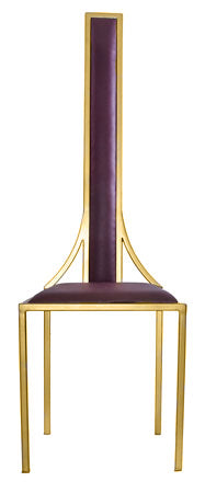 The Manhattan - Gold Effect Metal Frame with Mulberry Leather Chair