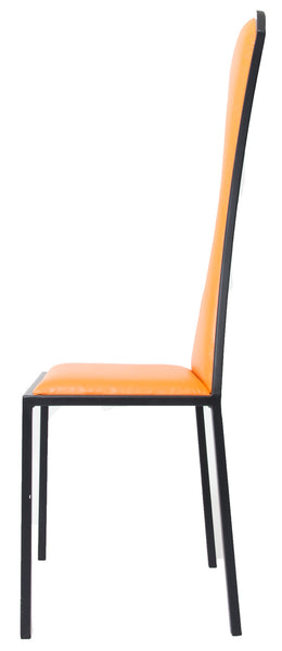 The Contour - Black Metal Frame with Mandarin Leather Chair
