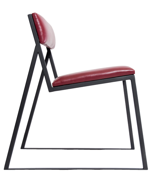 The Admiral - Black Metal frame with Admiral Red Leather Chair