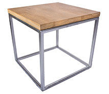 Copy of Chrome Effect 'Standard' Cube Frame with Solid Oak Top