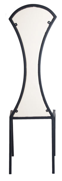 The Contour - Tall Metal Frame with White Leather Chair
