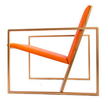 The Gravity Chair - Gold Effect Frame - Mandarin Leather Chair