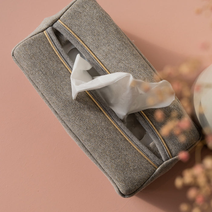 Golden freckles tissue box cover