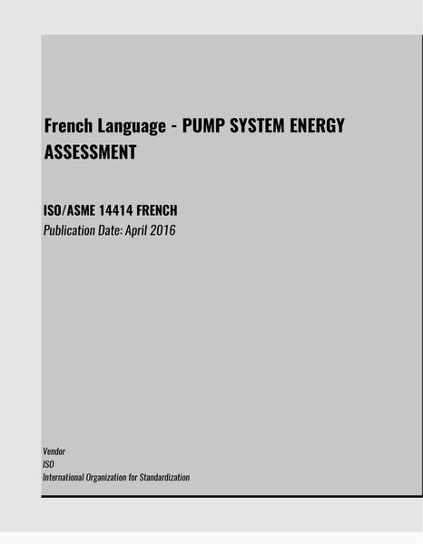 ISO/ASME 14414 FRENCH