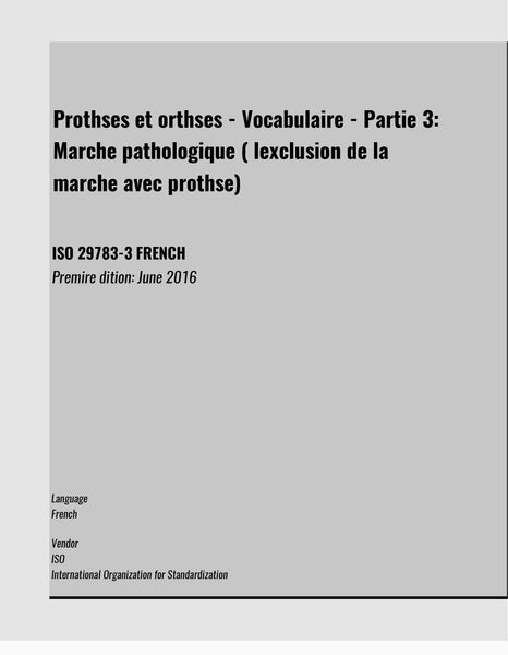 ISO 29783-3 FRENCH