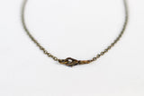 Bronze anchor necklace for men, link chain necklace, nautical