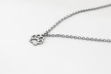 Silver paw necklace for women, waterproof chain necklace, valentines day gift