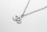 Om necklace for men, silver Yoga necklace for him