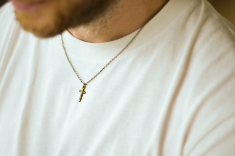 cross necklace for man stocking stuffer