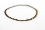 Men's ankle bracelet, bronze tone link chain anklet for him