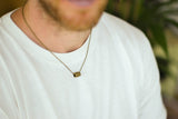 Bronze Hamsa tube chain necklace for men - shani-adi-jewerly