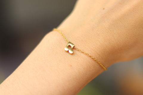 Music note bracelet, waterproof gold chain bracelet, tiny music note charm bracelet