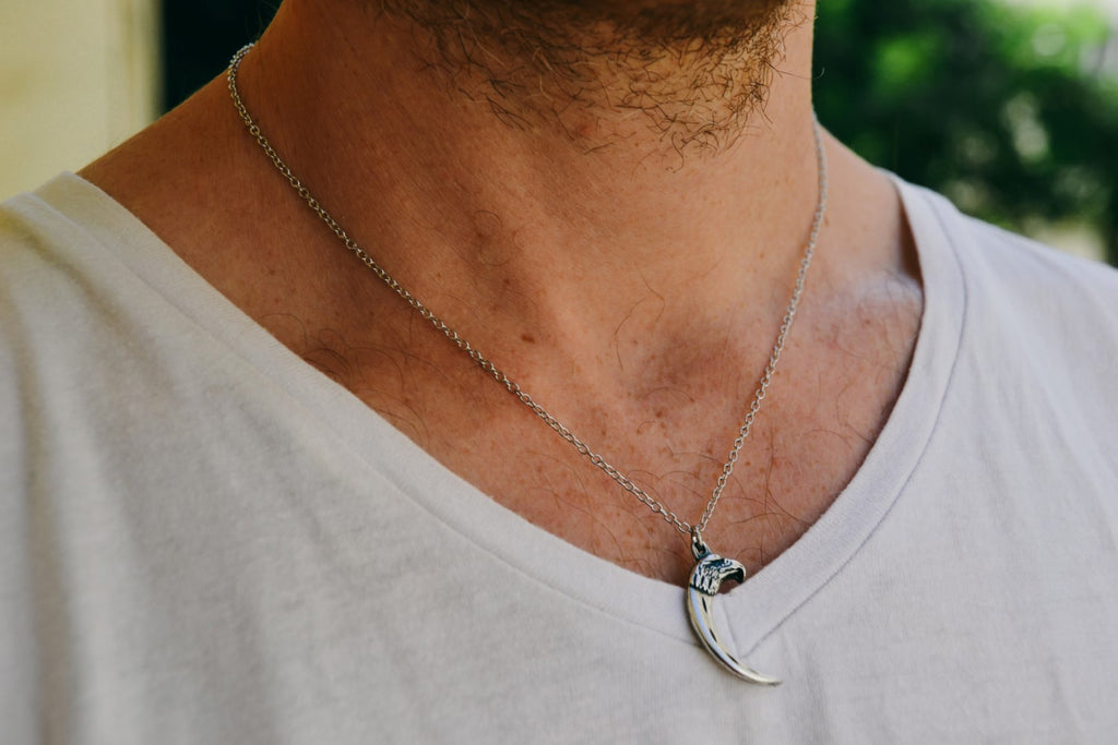 Eagle and Claw chain necklace for men