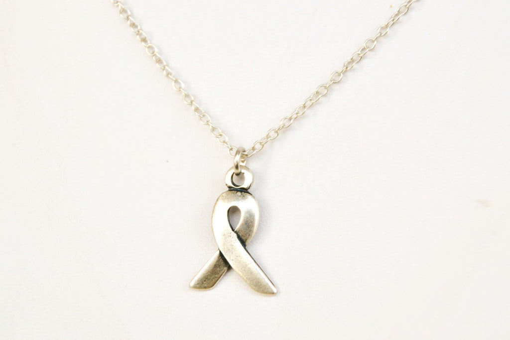 Silver chain Ribbon necklace for men