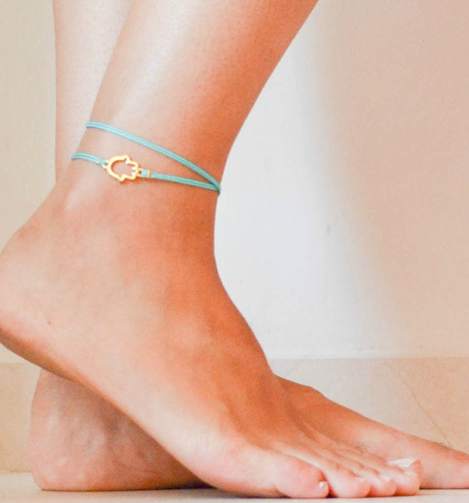 gold beads products anklet ankle avnis opal beach