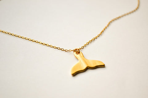 Cain Whale tail gold necklace - shani-adi-jewerly