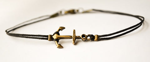 Bronze anchor bracelet - shani-adi-jewerly