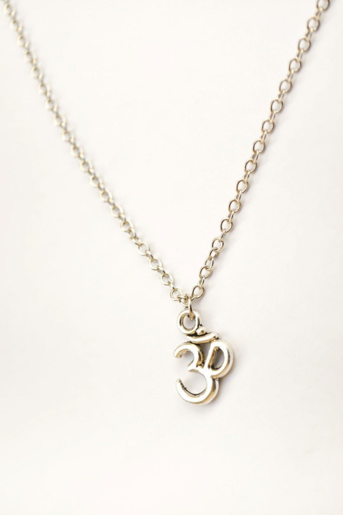 Silver chain Om necklace for men