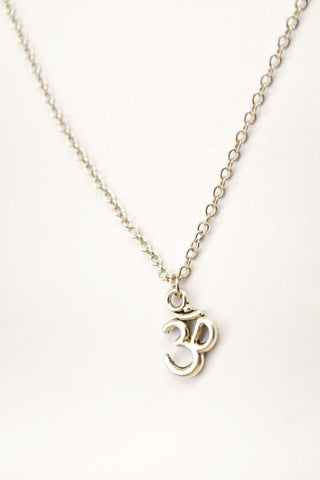 Silver chain Om necklace for men - shani-adi-jewerly