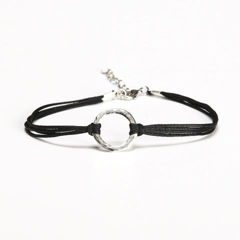 Karma bracelet, black cord - shani-adi-jewerly