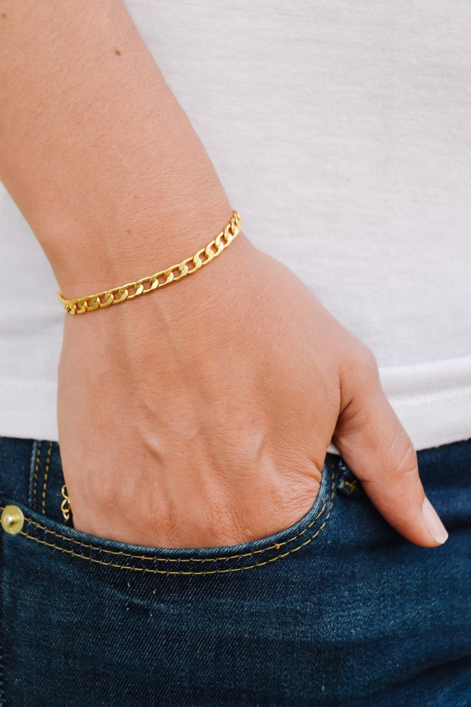 Elegant 14k gold plated chain - shani-adi-jewerly