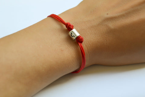 Zodiac signs bracelet, Libra sign, red cord - shani-adi-jewerly