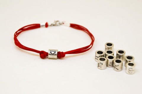 Zodiac signs bracelet, Libra sign, mens bracelet with silver sign charm, red cords, astrology bracelet, horoscope, bracelet for men jewelry