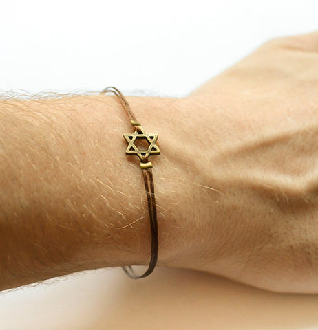 Star of David men's bracelet - shani-adi-jewerly