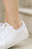 Music note anklet, waterproof silver chain ankle bracelet, personalised jewelry