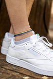 Pride anklet for men, rainbow flag ankle bracelet