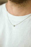 Personalised Initial stainless steel chain necklace, for men