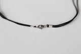 Men's necklace with a silver Om pendant, black cord - shani-adi-jewerly