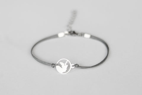 Women bracelet with silver unicorn charm
