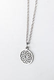 Lotus pendant necklace for men, stainless steel Sahasrara necklace, waterproof - shani-adi-jewerly