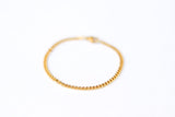 Gold tone links chain bracelet for men, minimalist jewelry for him, Stainless steel, waterproof