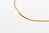 Gold tone stainless steel link chain necklace for men, waterproof