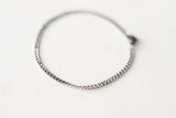 Silver tone chain bracelet, stainless steel, waterproof bracelet, gift for her